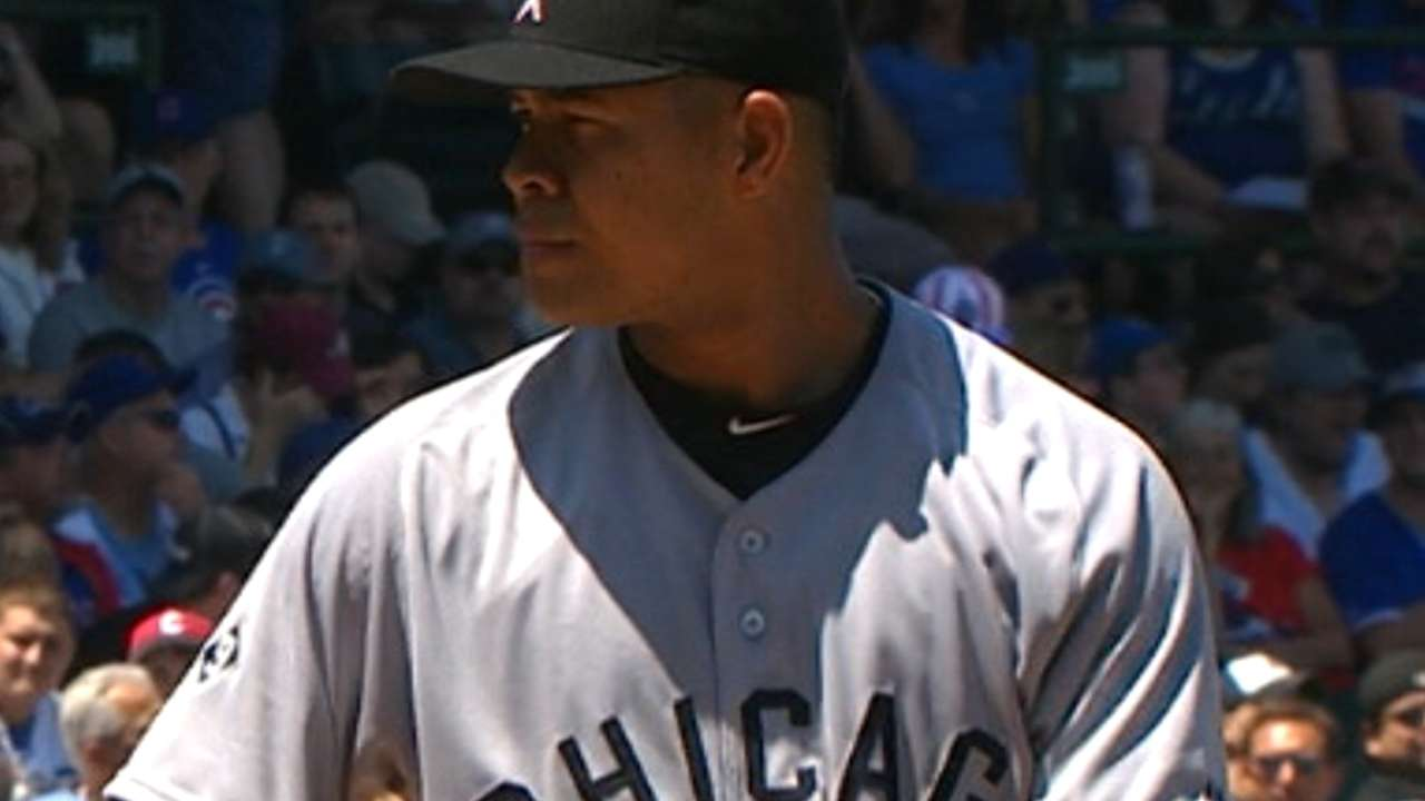 Quintana strikes out nine