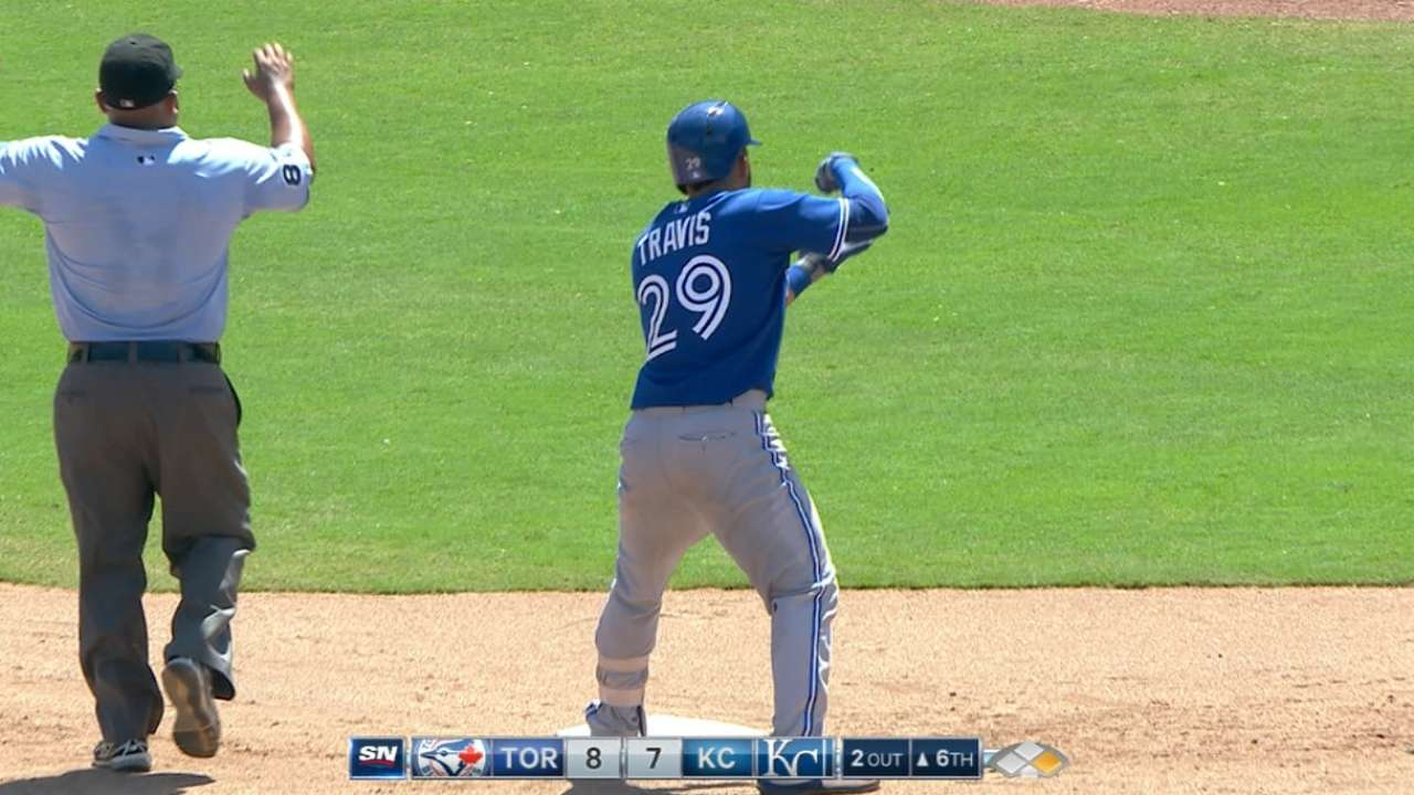 Blue Jays score eight in 6th