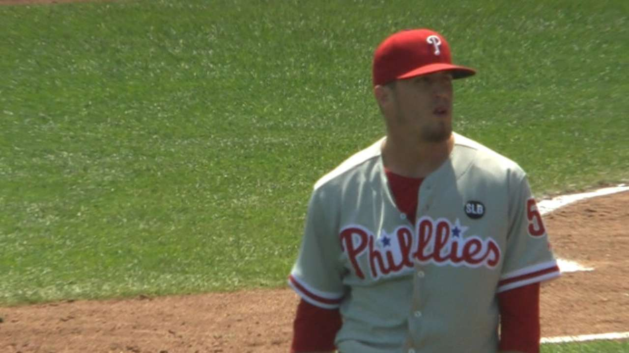 Giles strikes out side in 8th