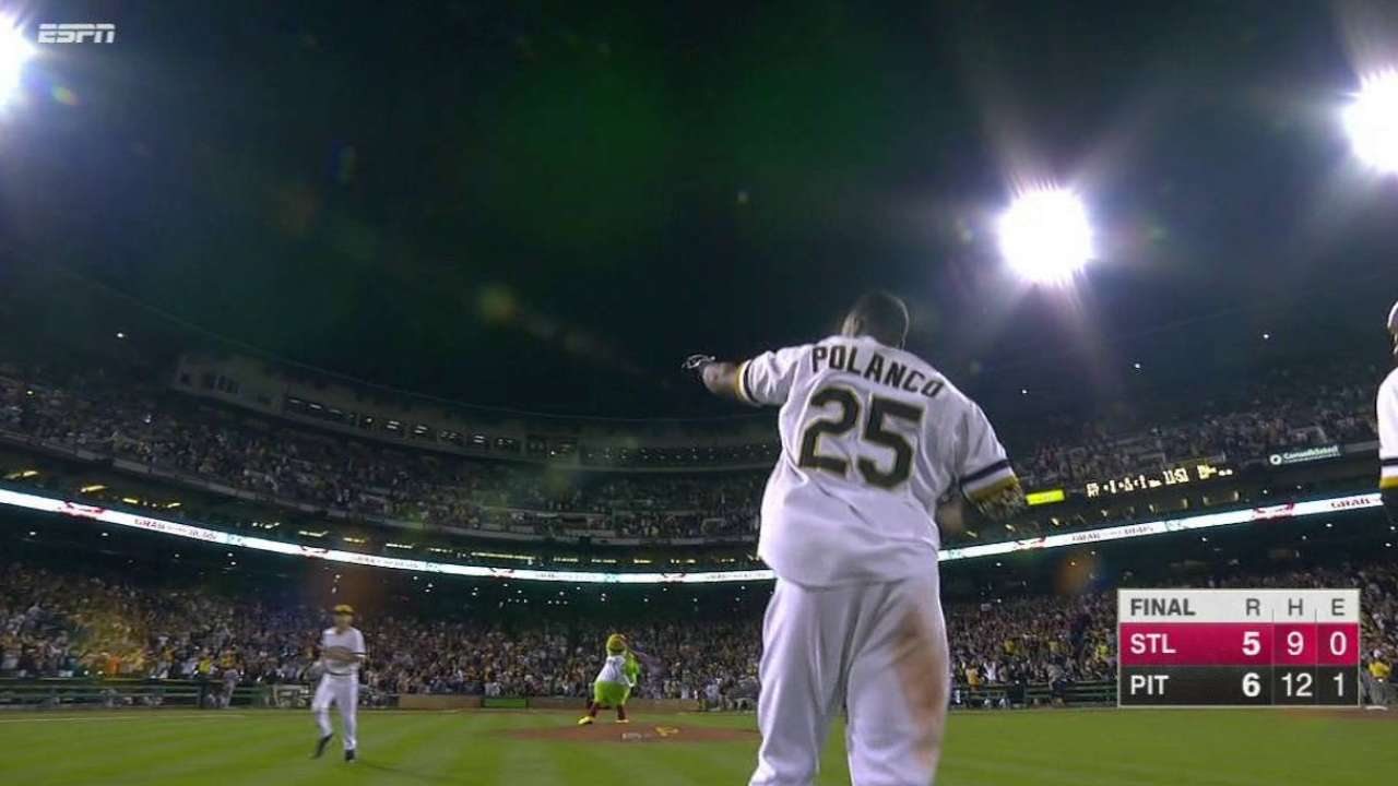 Polanco's walk-off single