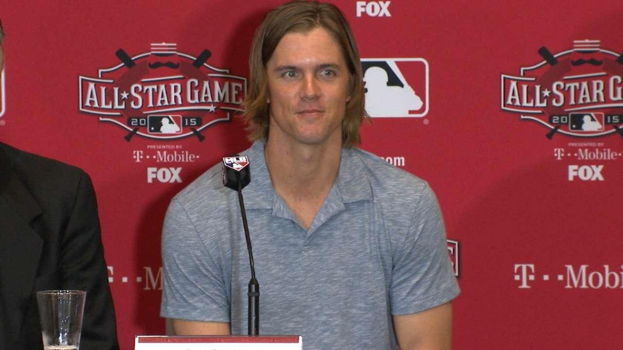 Zack Greinke Dodgers Press Conference Greinke on starting nod for NL