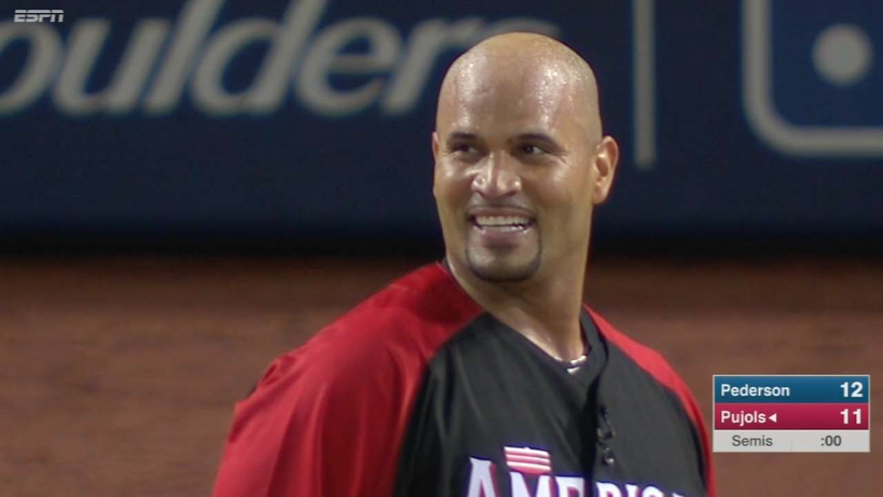 Pujols' 11-homer second round