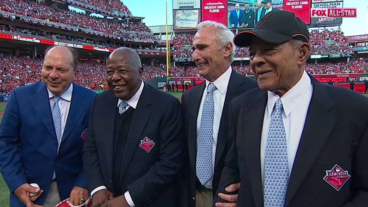MLB unveils greatest living players, Franchise Four