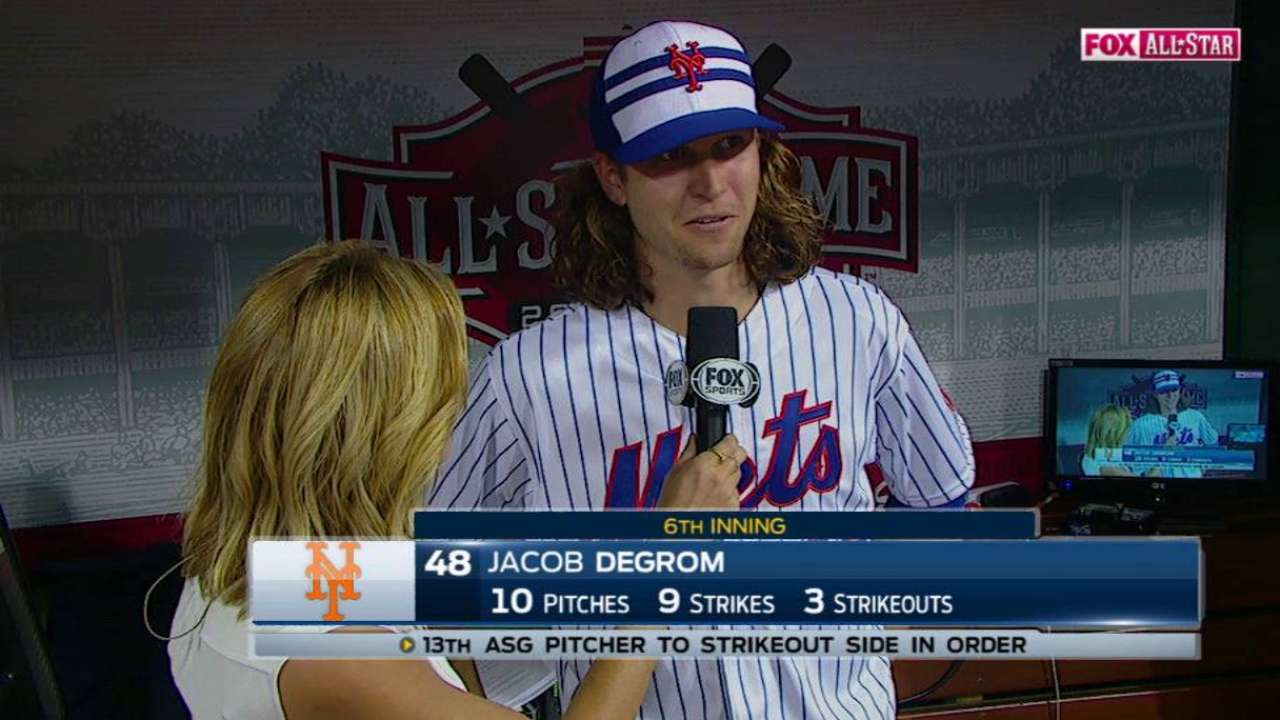 deGrom on impressive appearance