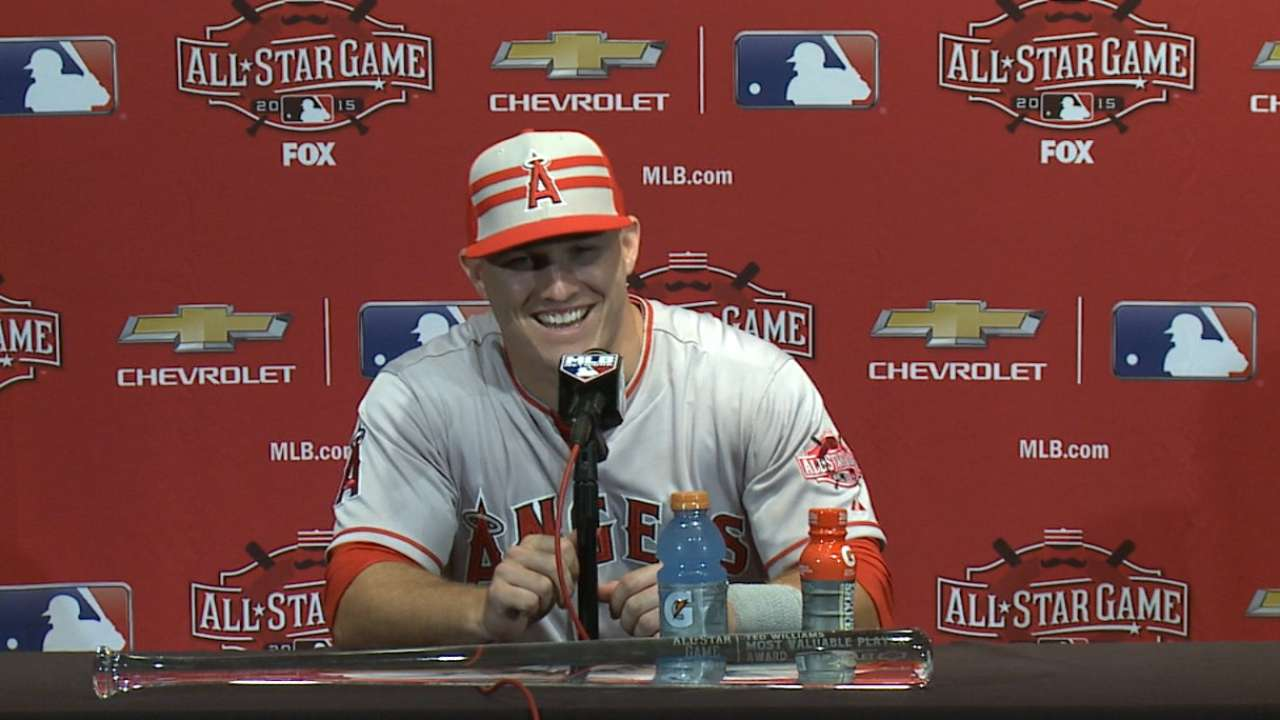 Trout on back-to-back MVPs