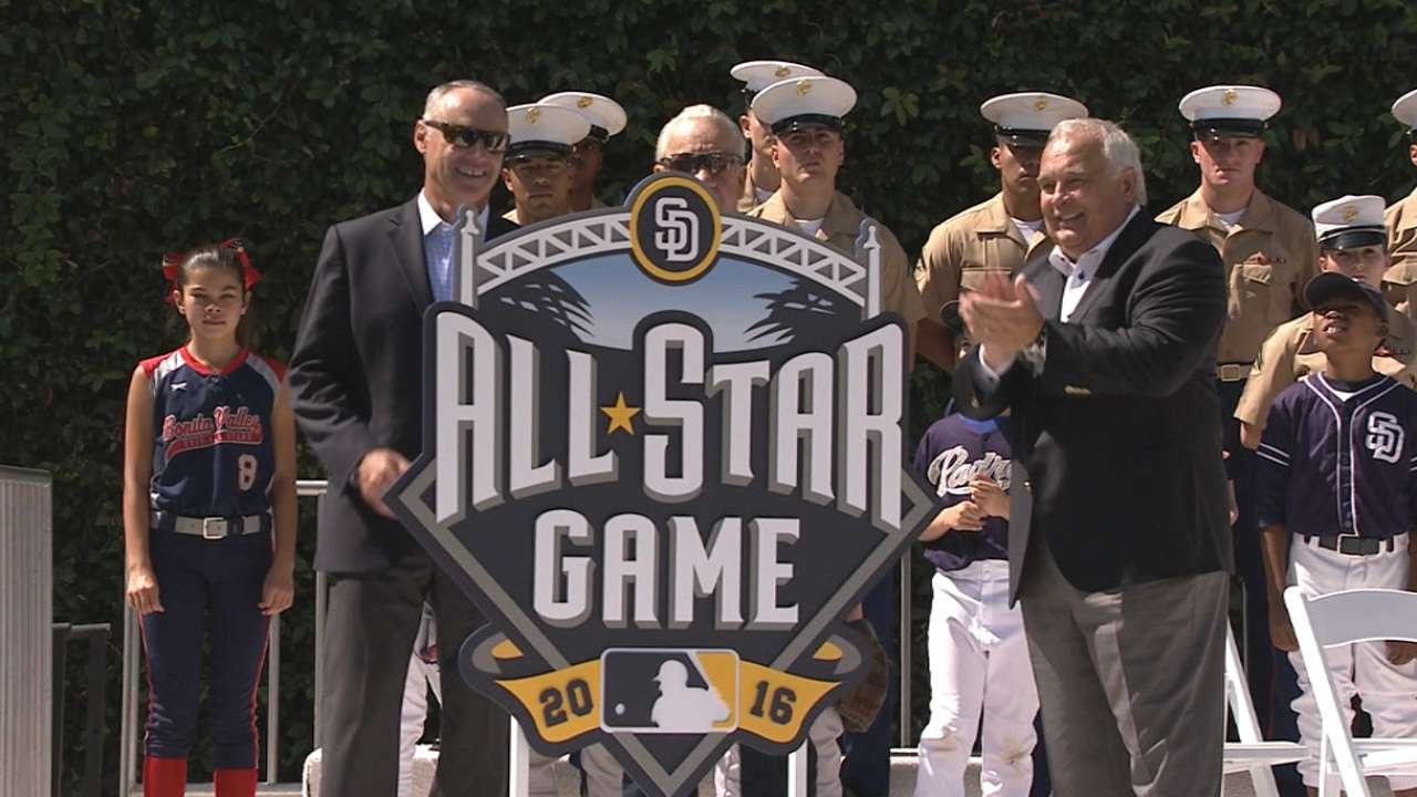 Padres unveil logo for 2016 All-Star Game