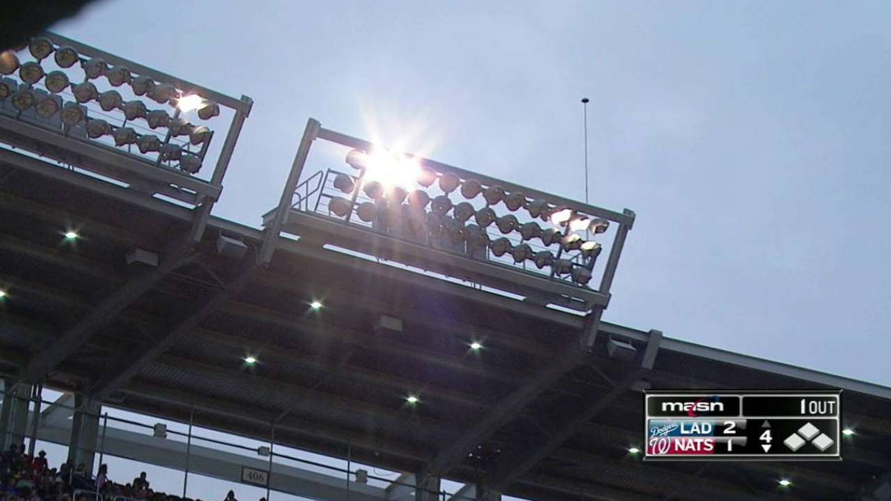 Lights go out at Nationals Park