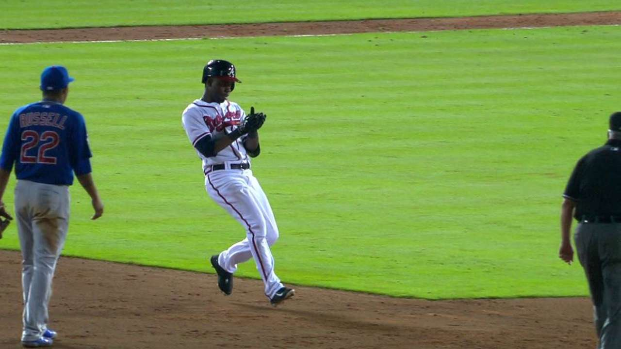 Perez's clutch hit propels Braves past Cubs