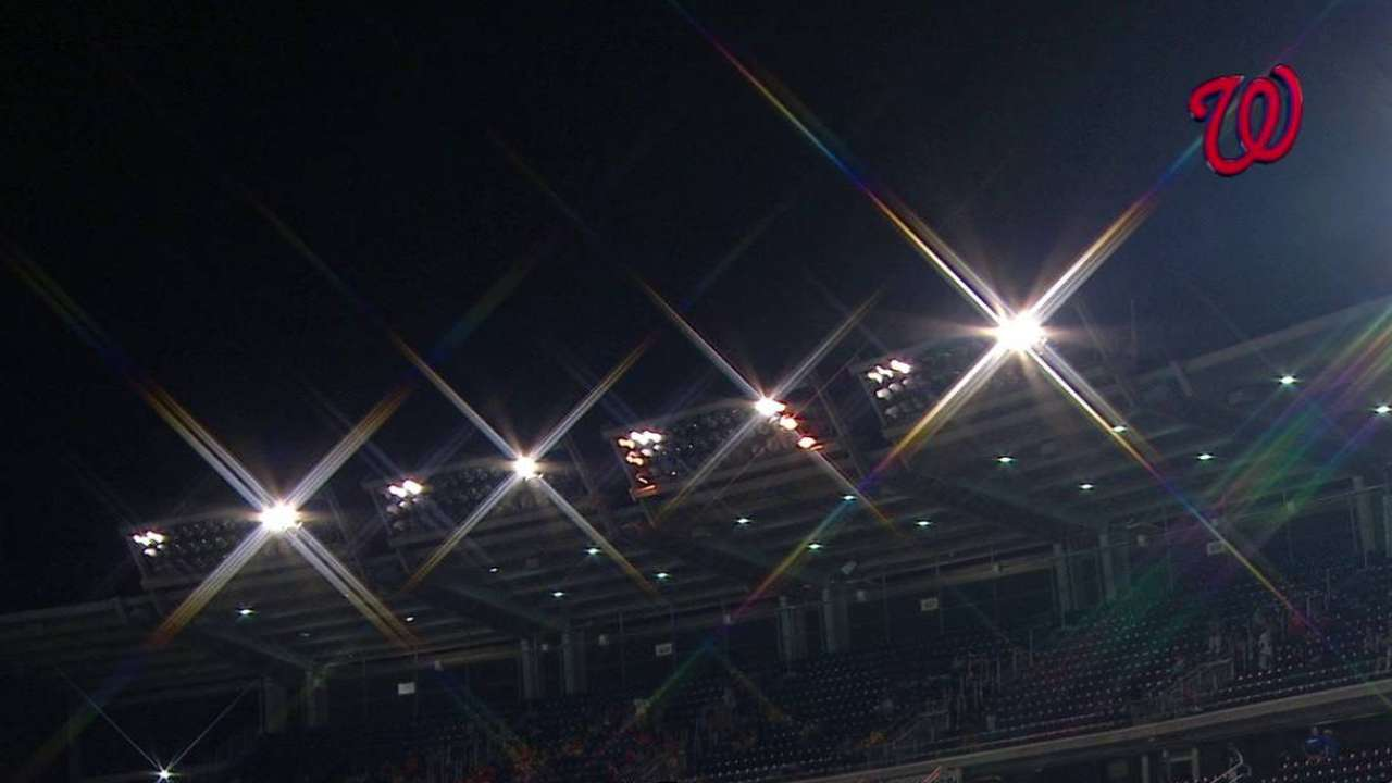 Lights go out, game suspended
