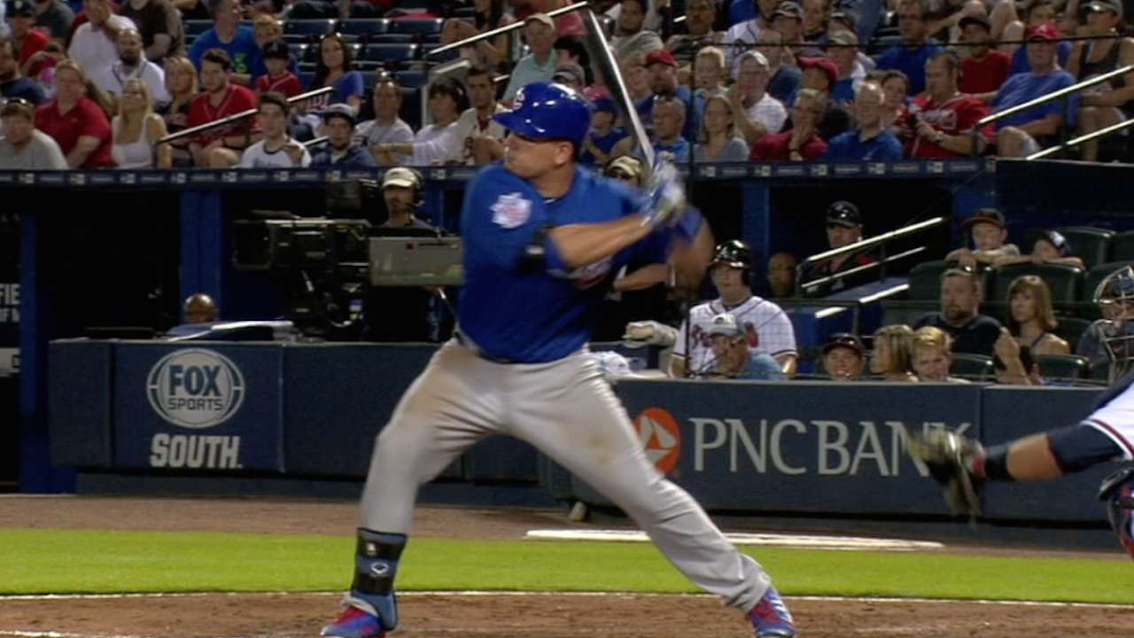 Schwarber's three-hit night