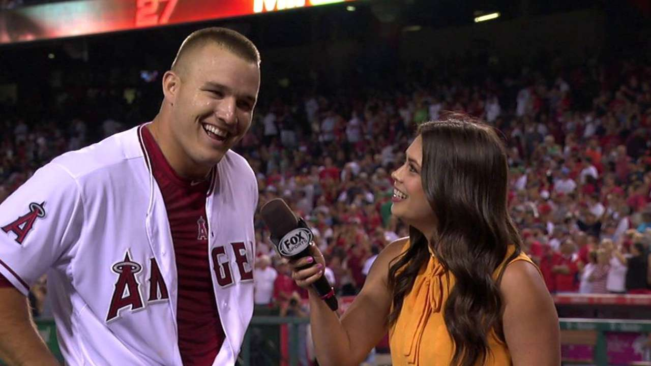 Trout on walk-off win