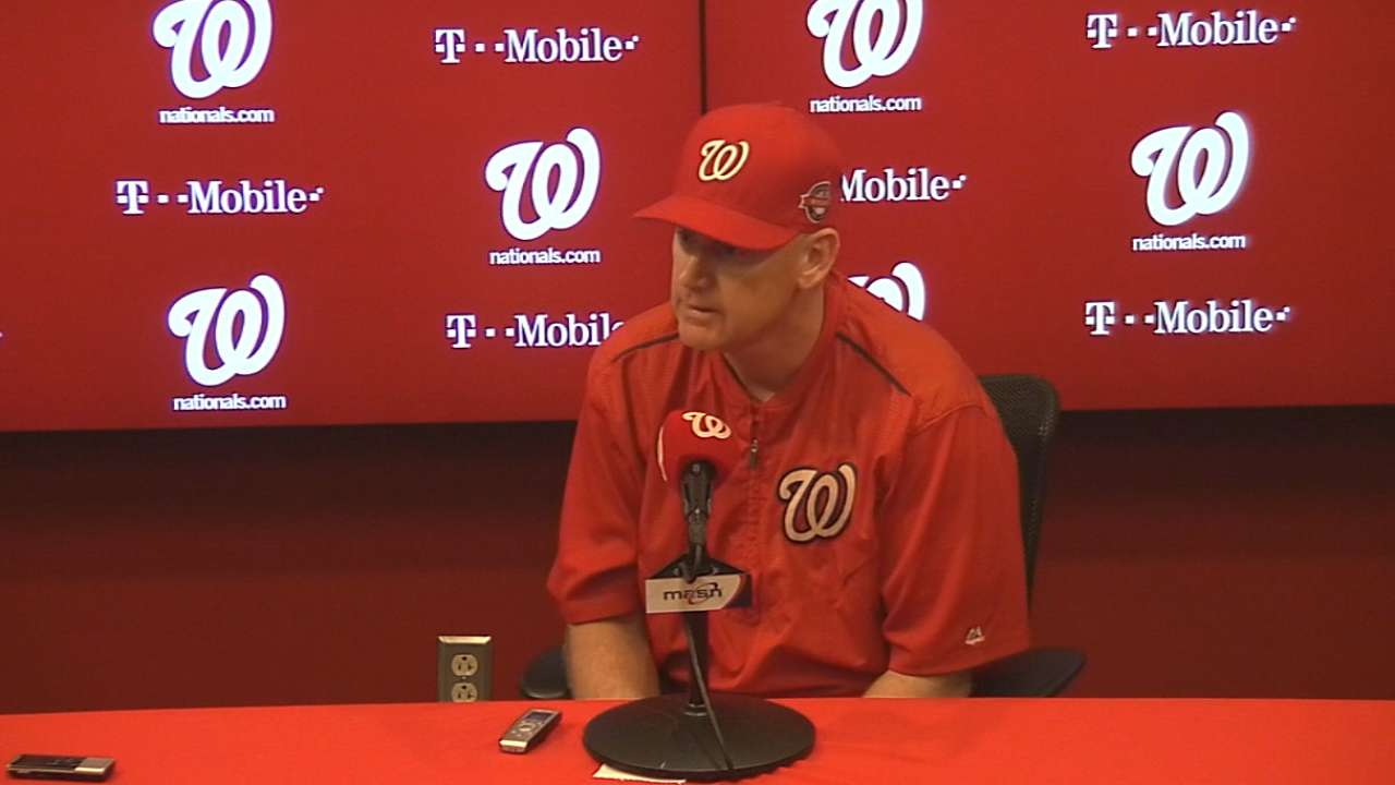 Nationals on suspended game