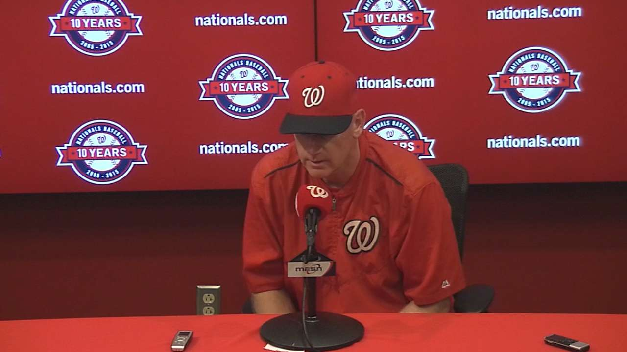 Nats stick with Roark in suspended game