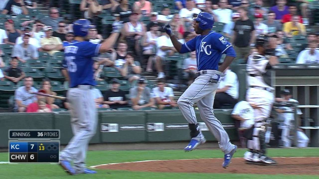 Cain's HR redeems Royals, tops White Sox in 13