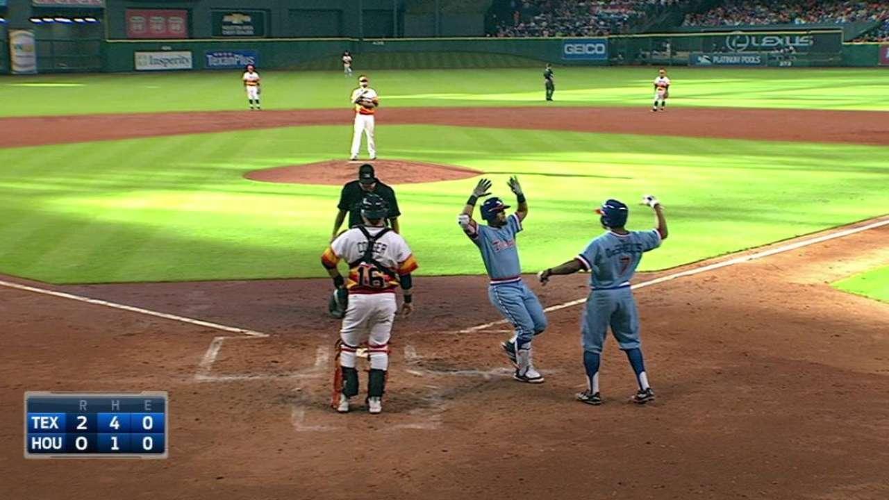 Odor, Rangers se imponen a Astros en ríspido juego