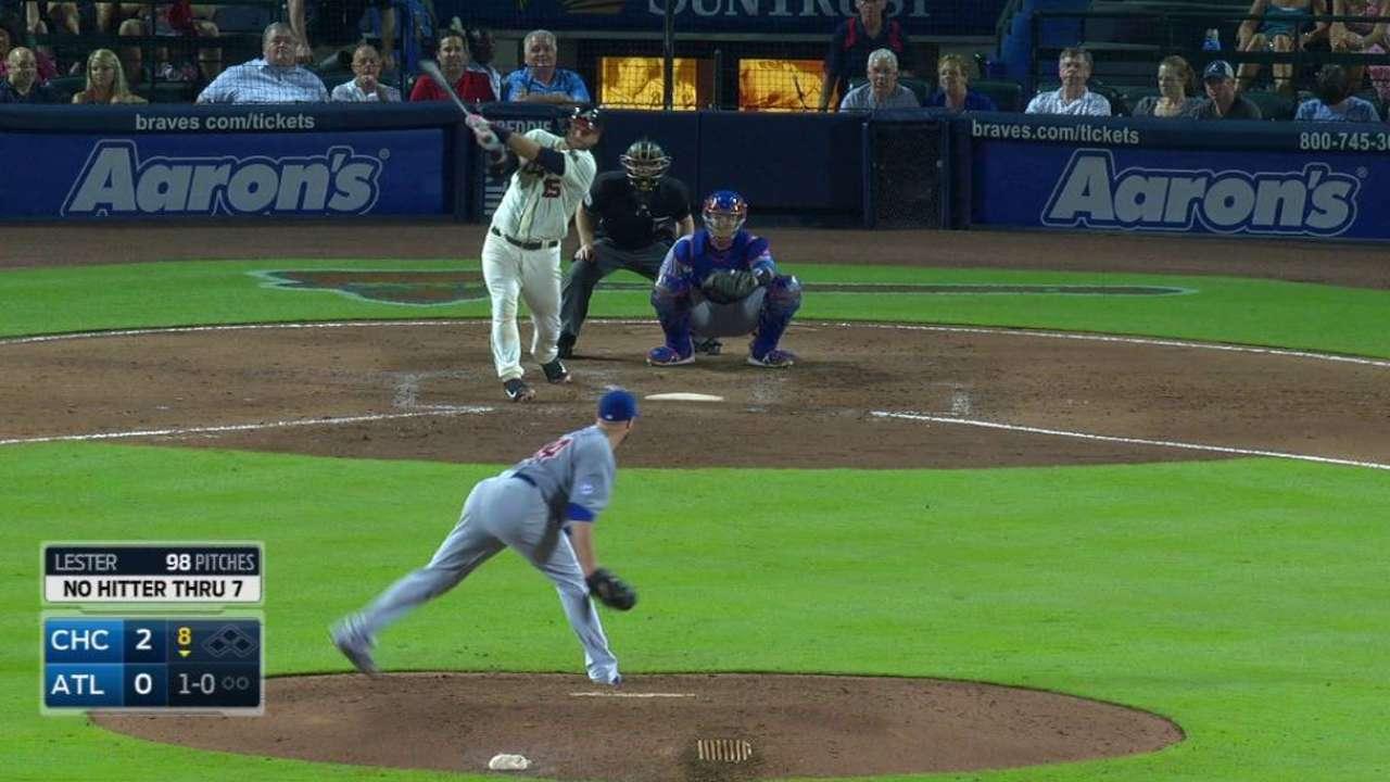 Pierzynski breaks up no-hitter