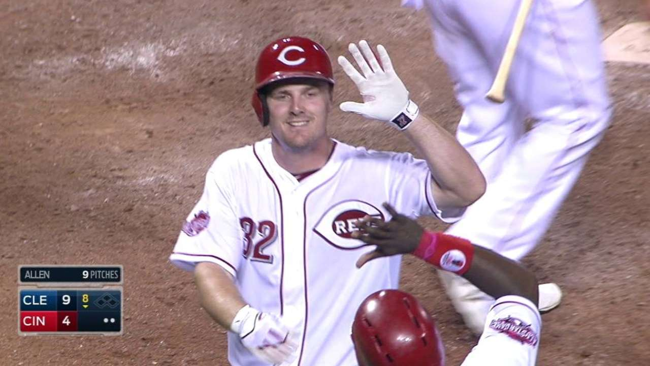 Bruce comes through with all 4 of Reds' RBIs