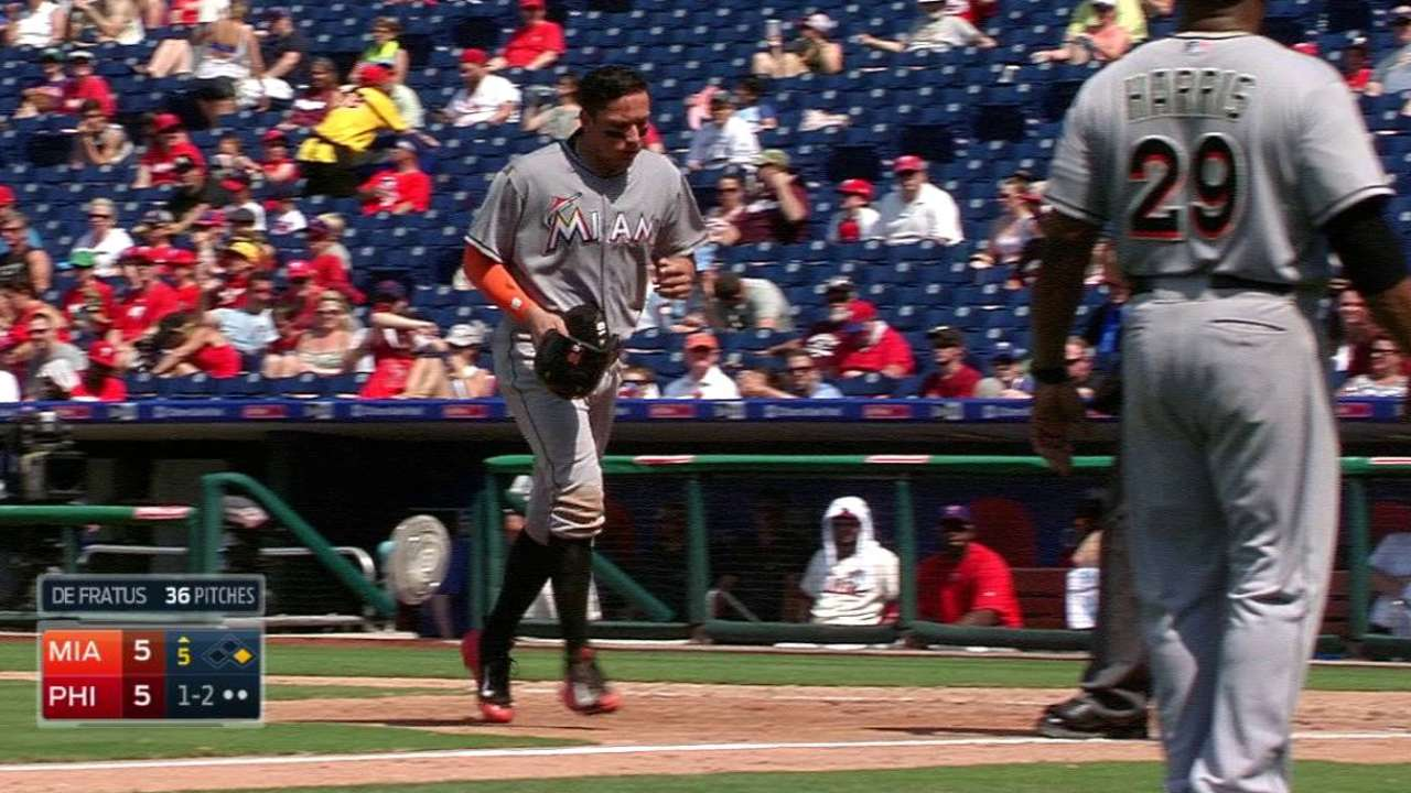 Rojas exits the game
