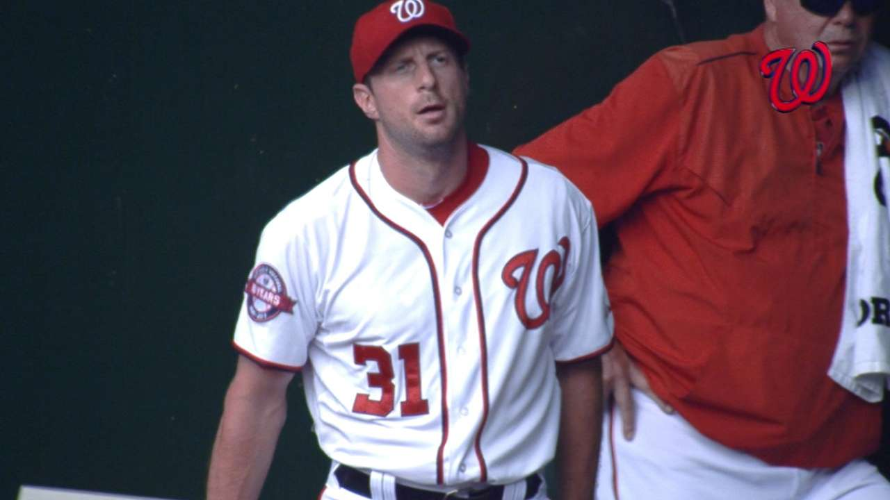 Scherzer strikes out eight