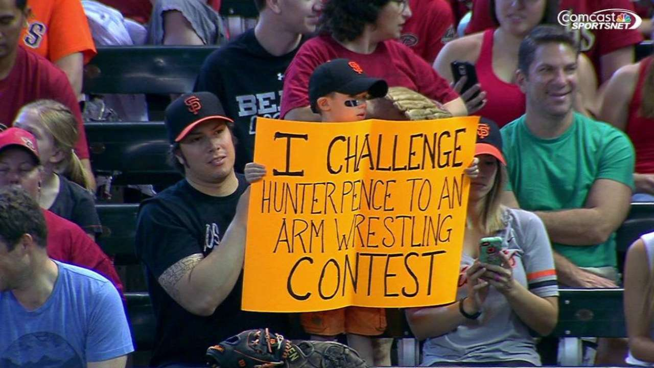 Fan challenges Pence