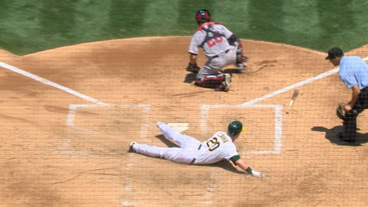 A's bust out for five in the 3rd