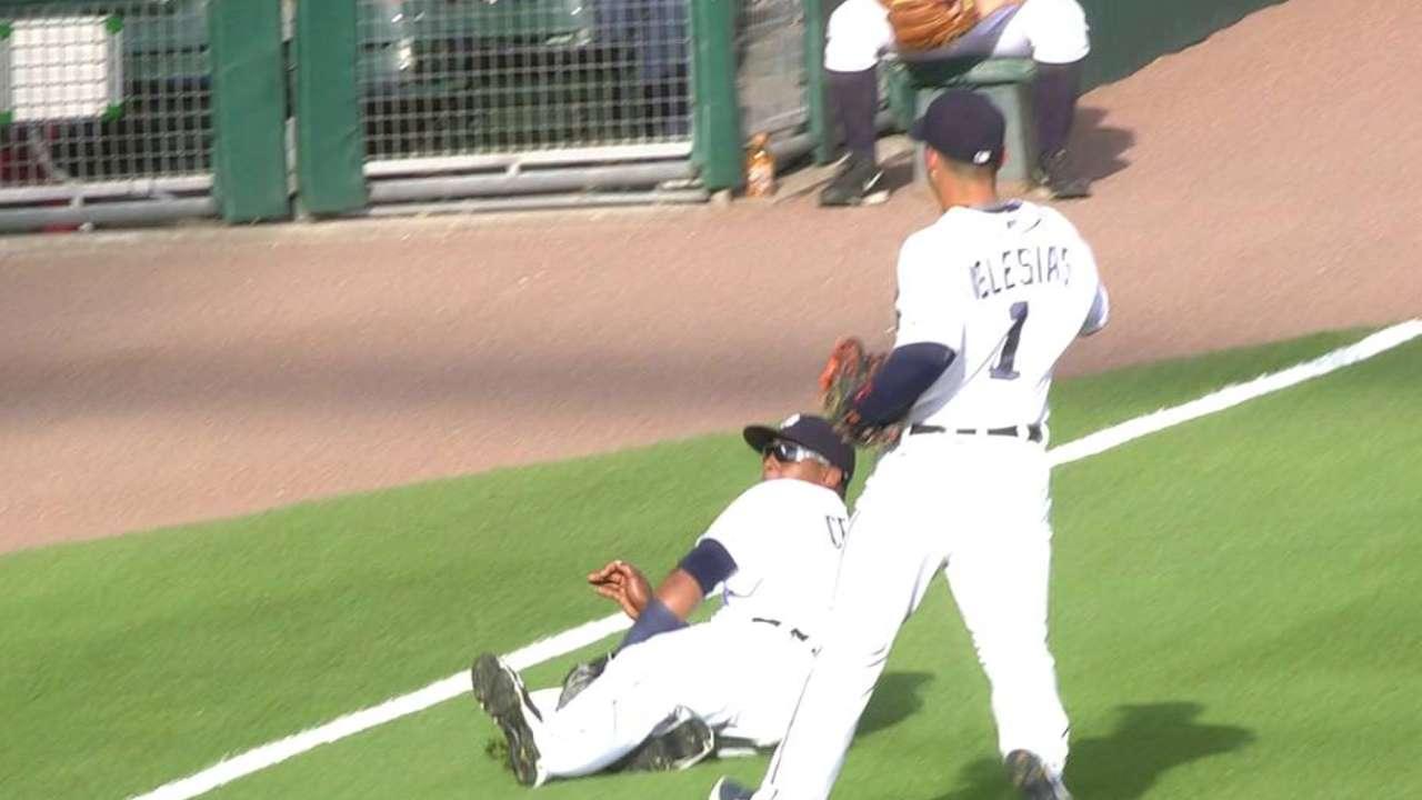 Cespedes' sliding catch