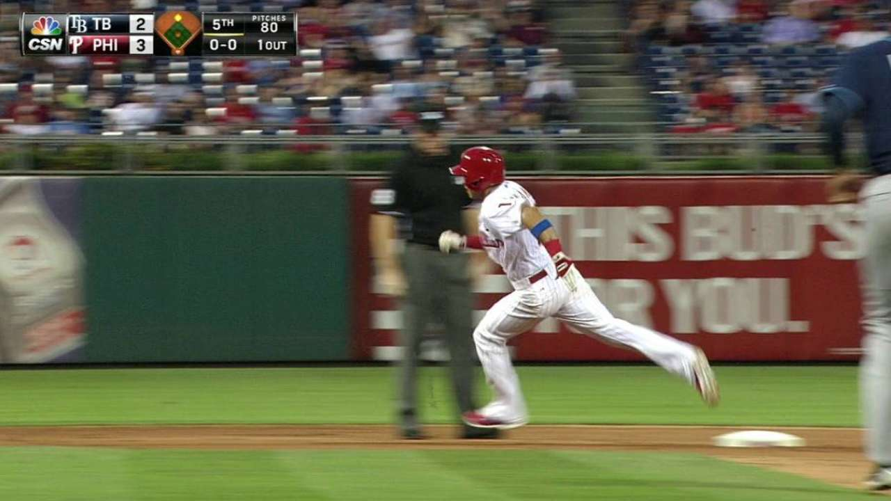 Hernandez's triple to right