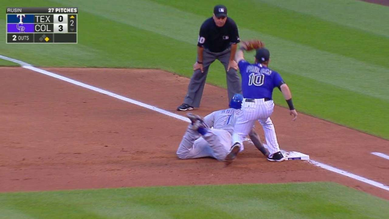 Rusin picks off Andrus