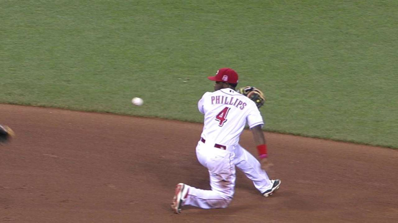 Reds hit 3 HRs to slip by Cubs