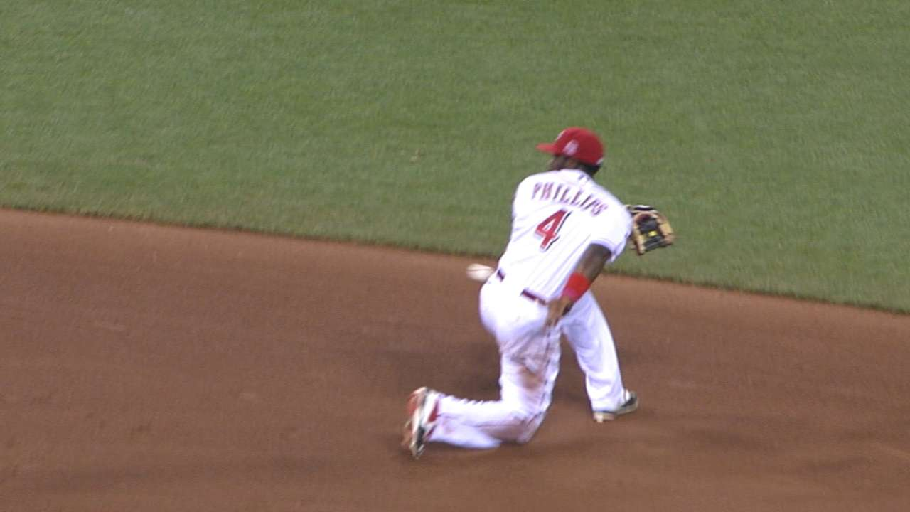 Phillips dazzles with behind-the-back flip