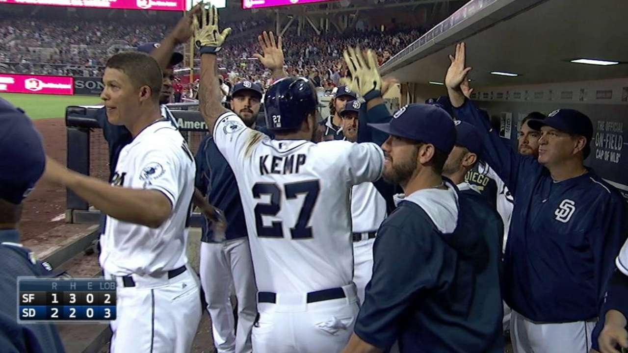 Kemp starting to sizzle in second half