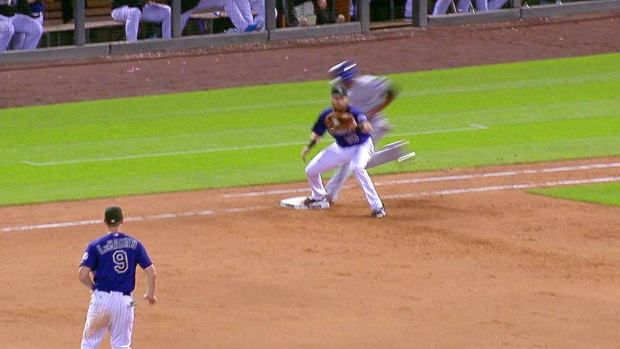 LeMahieu gets out at first