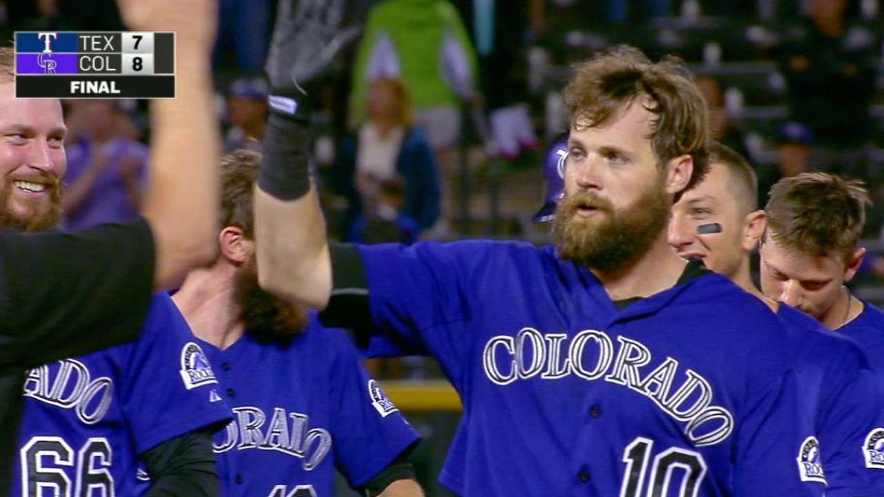 Paulsen walks off Rockies after Rangers rally