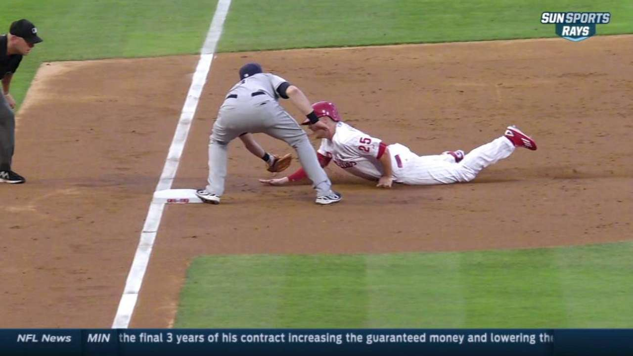 Baserunning mistakes costly for Phillies