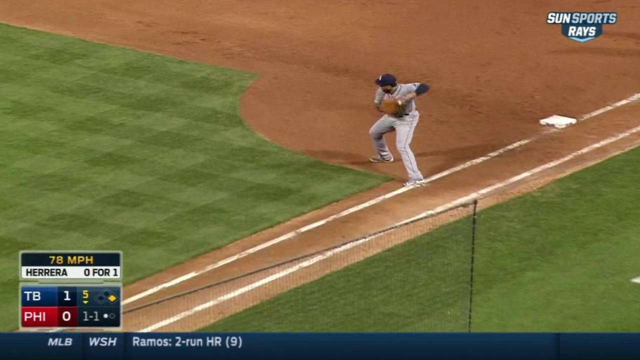 Loney starts double play