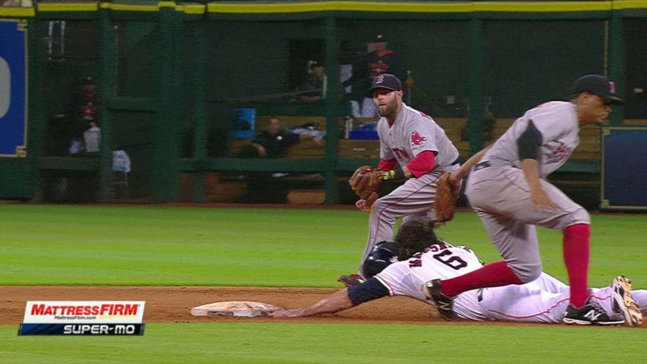 Astros score two on error