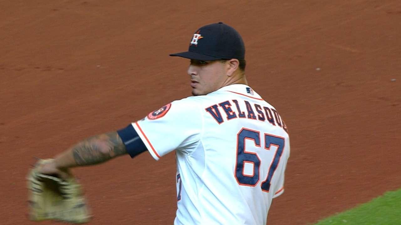 Velasquez's first MLB win