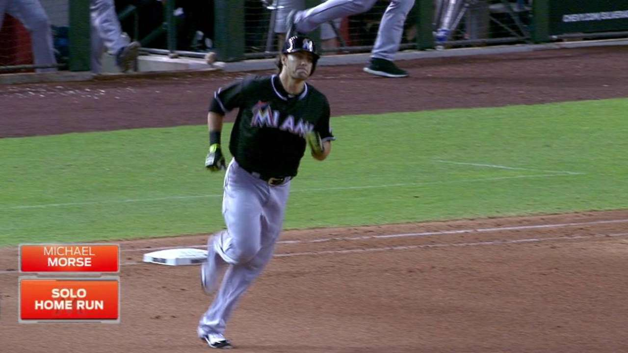 Marlins cruise behind Morse's bat, brilliant Mat