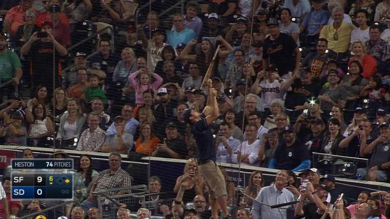 M. Upton ends no-no, loses bat