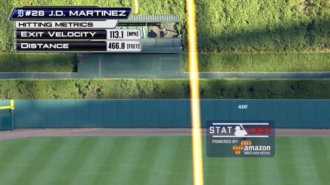J.D. clubs longest HR at Comerica this year