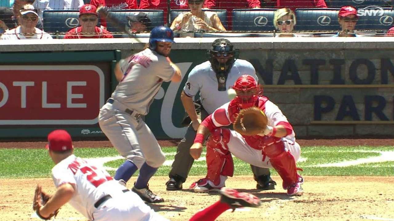 Mets dejaron escapar la serie ante Nacionales en D.C.