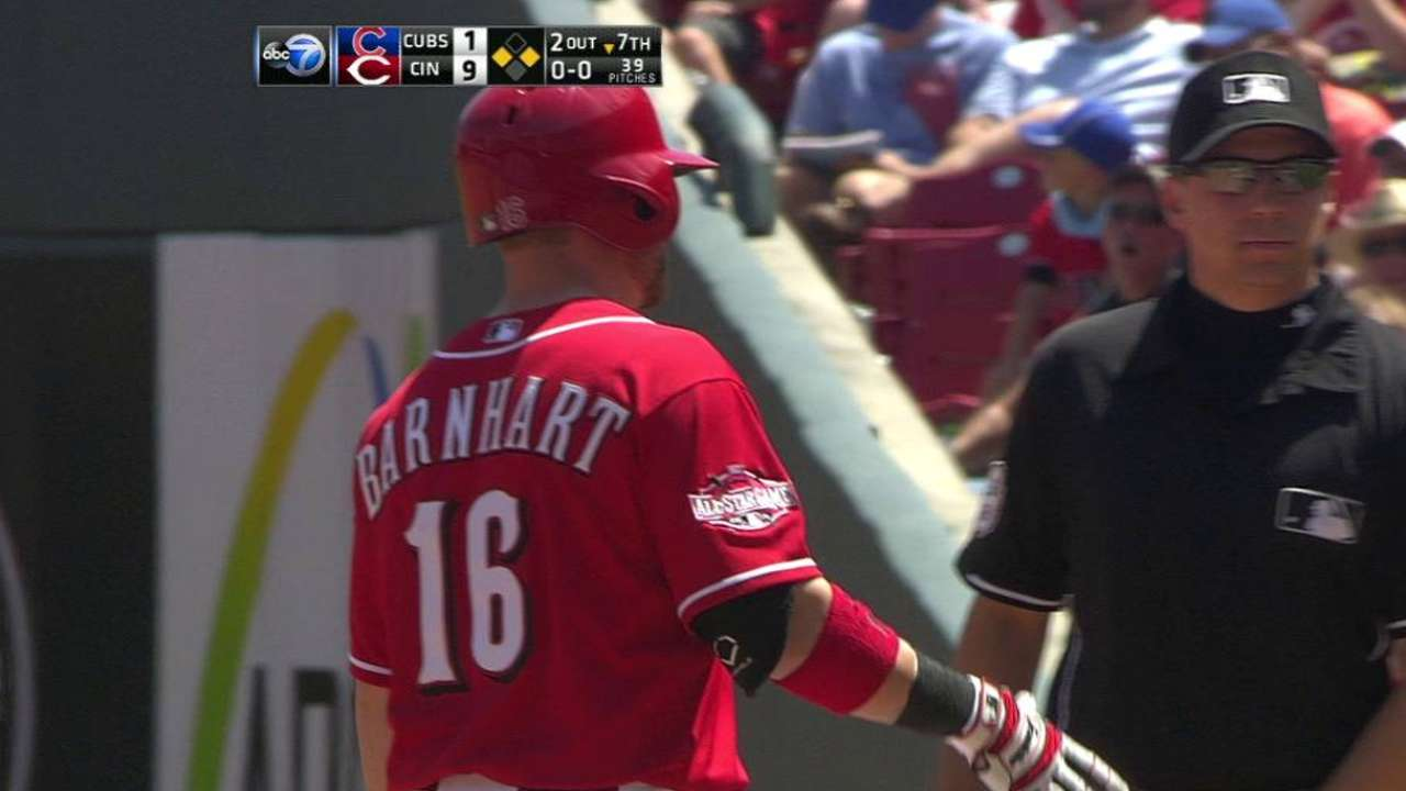 Barnhart making most of opportunity with Reds