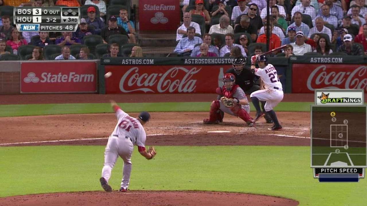 Johnson's first MLB strikeout