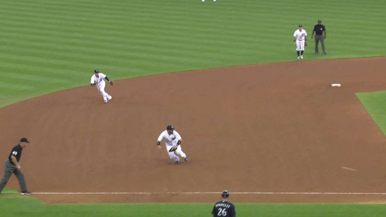 Castellanos' diving stop