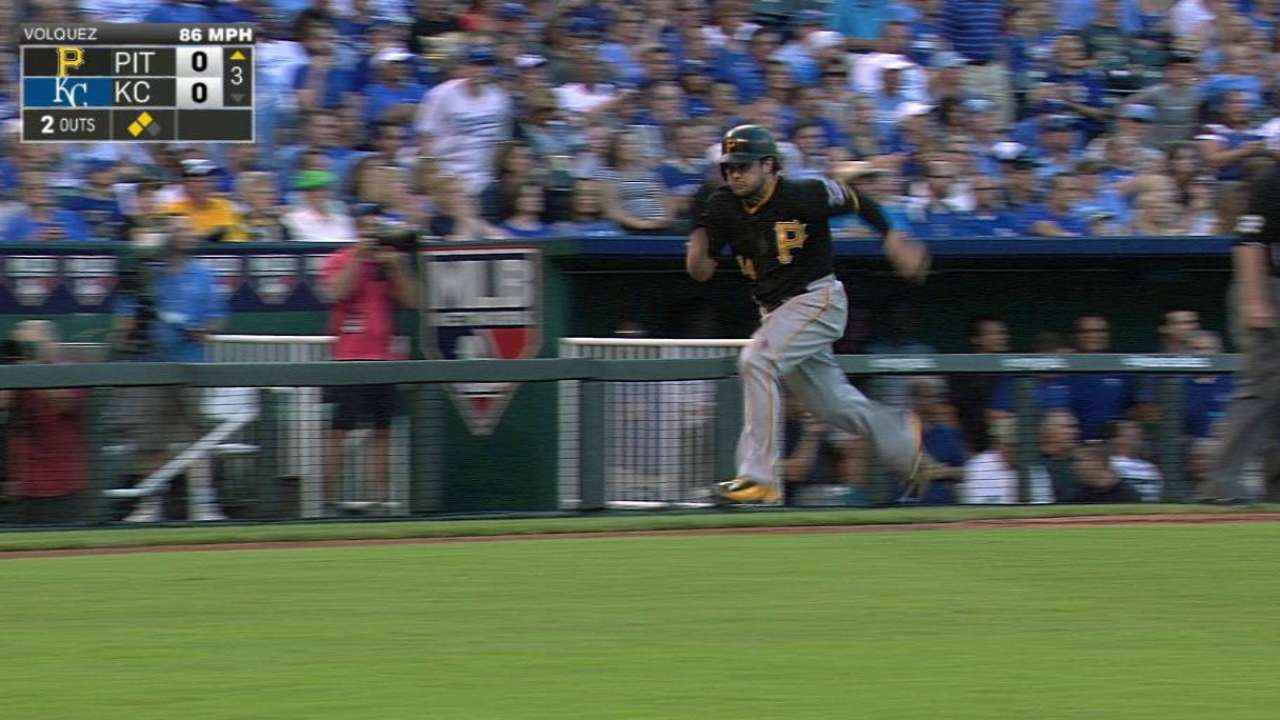 Pirates' offense too top-heavy against Royals