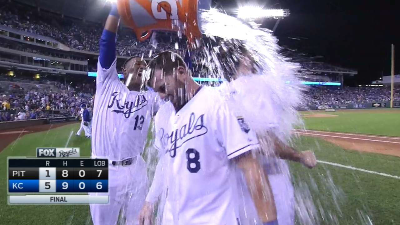 Hosmer and Moustakas on the win