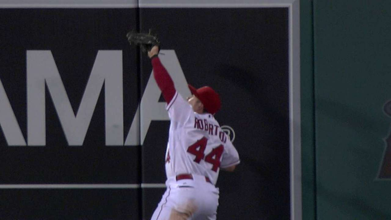 Robertson's catch against wall