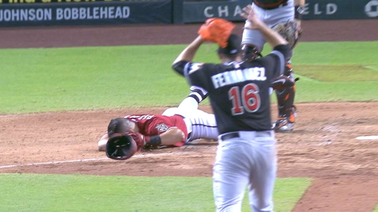 Fernandez clears air with Peralta after beaning