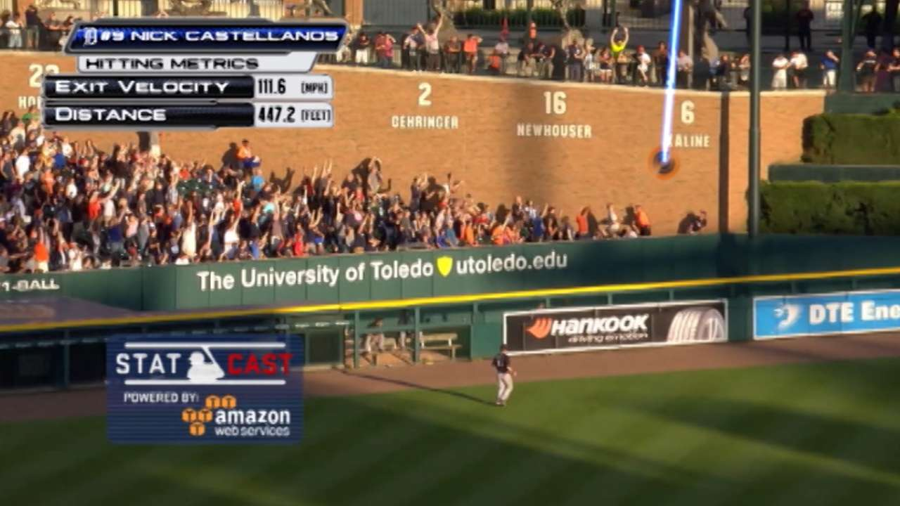 Statcast: Castellanos' huge slam