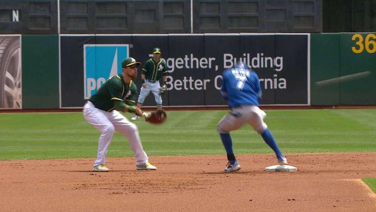 Pomeranz hits Reyes on back